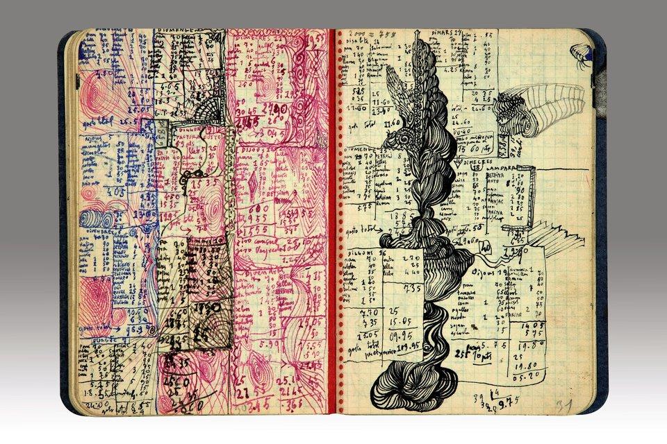 diarios de Salvador Dali abierto