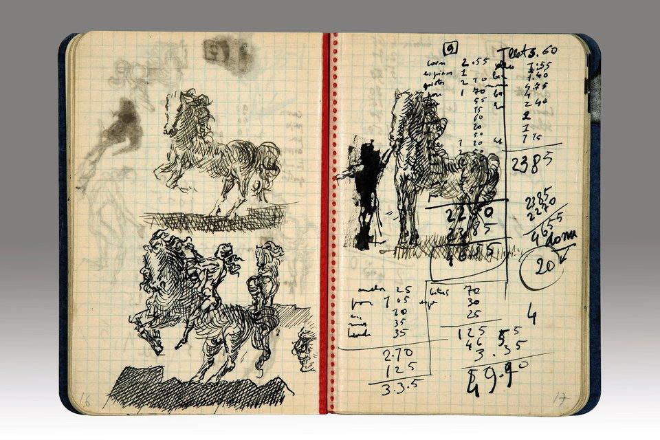 diario de Salvador Dali caballos