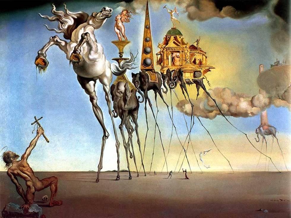 diarios de Salvador Dali tentacion San Antoine