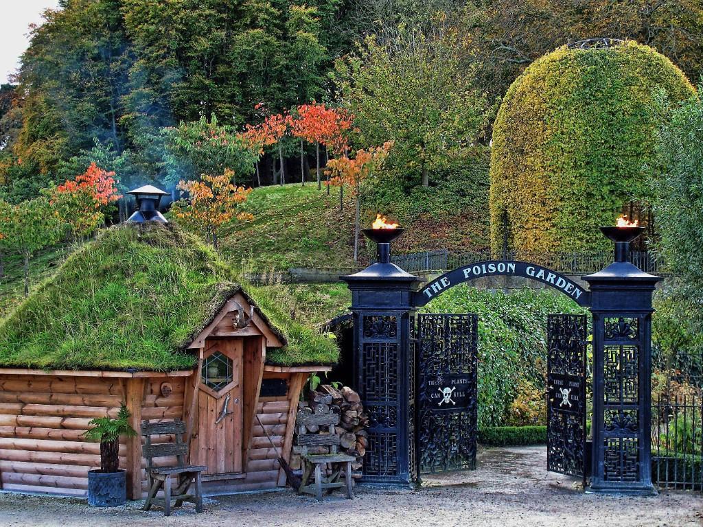 Jardín Alnwick entrada