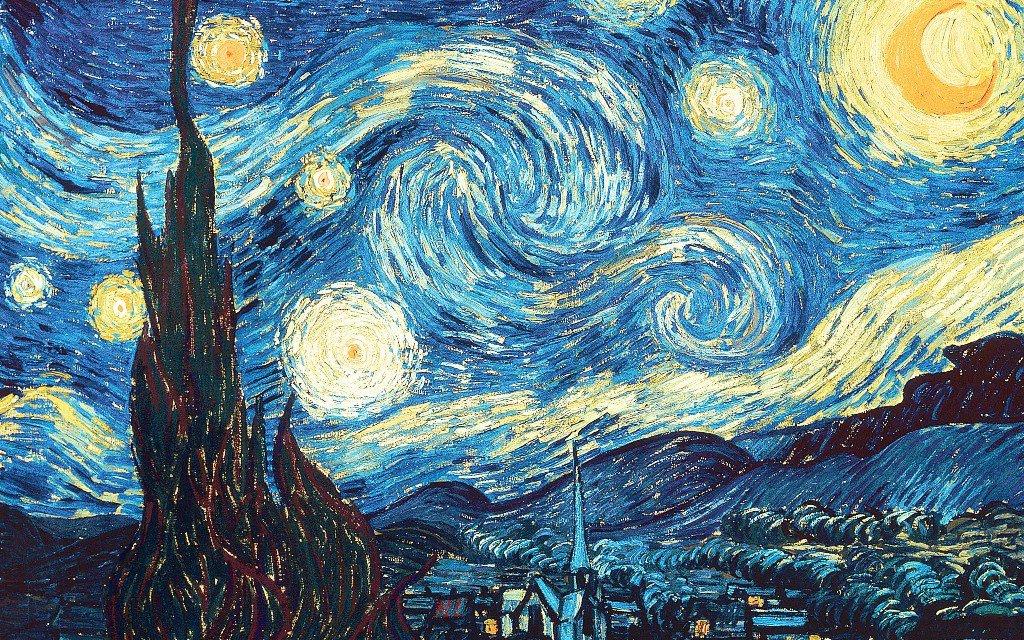 la noche estrellada trabajos de arte