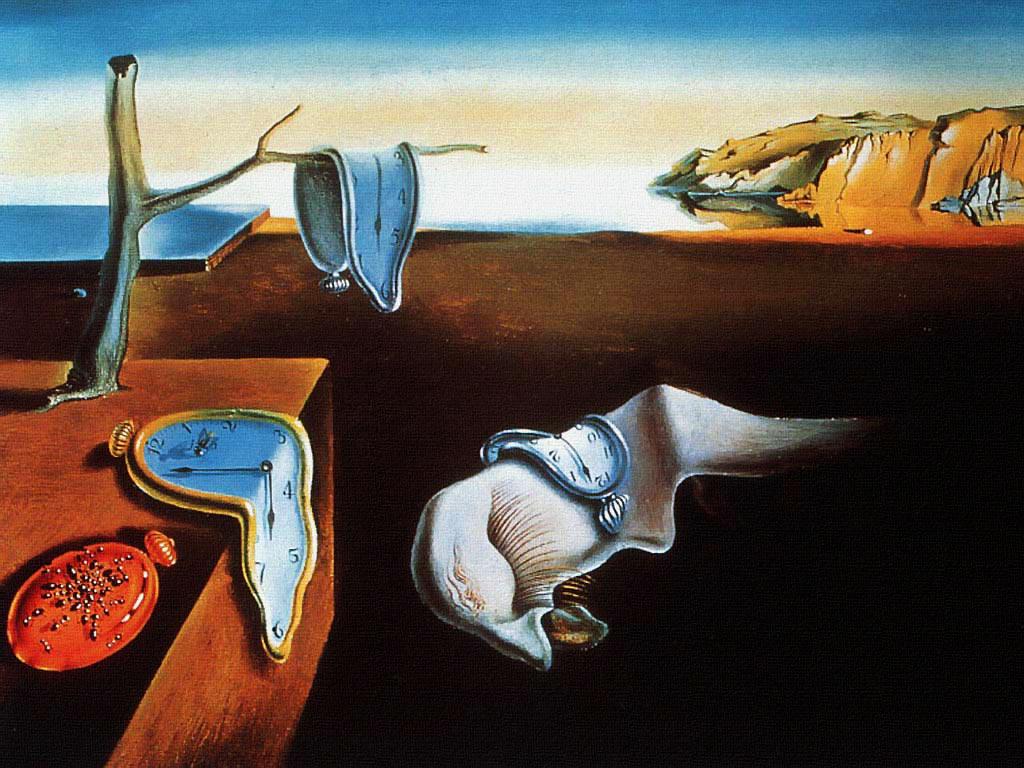la persistencia de la memoria trabajos de arte