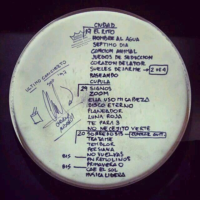 letras de Cerati setlist ultimo concierto