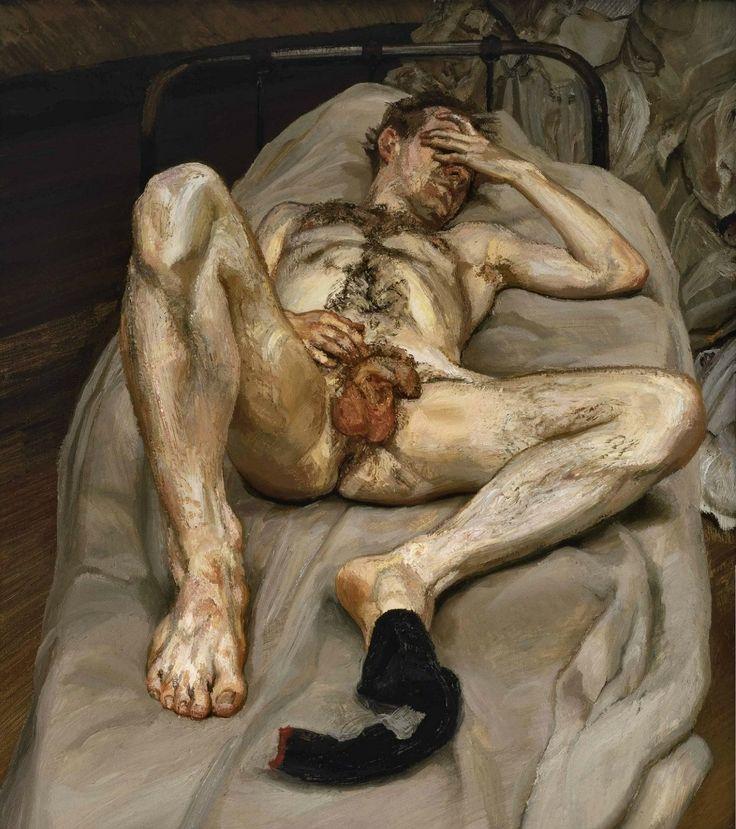 lucian freud hombre dormido