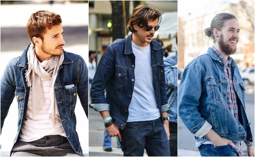 mezclilla chaqueta hombres