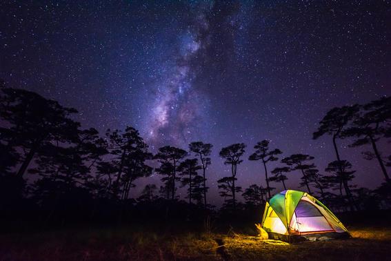 mitos del espacio via lactea camping