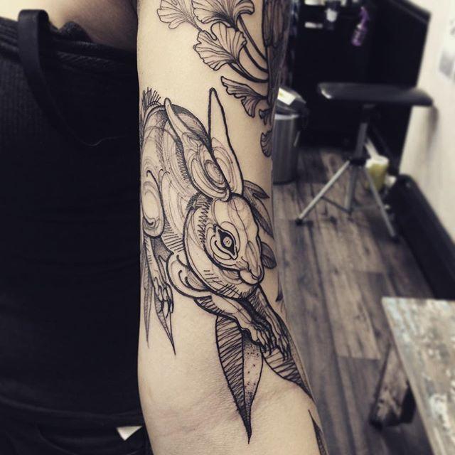 sketch tattos conejo