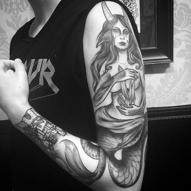 sketch tattos sirena