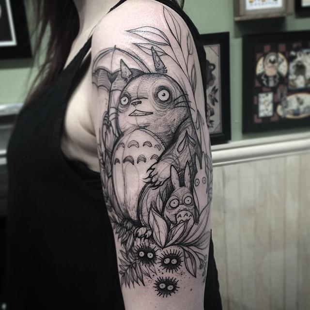 sketch tattos  totoro