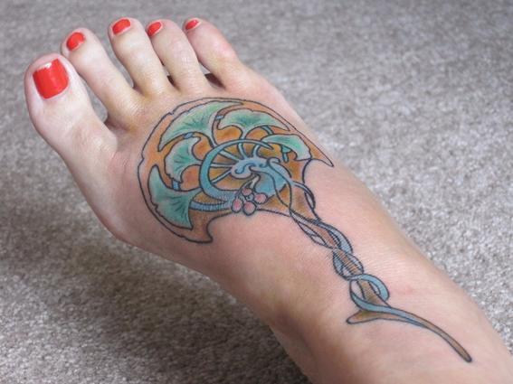 tatuajes japoneses empeine