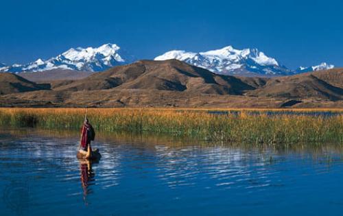 El nacimiento del Lago Titicaca