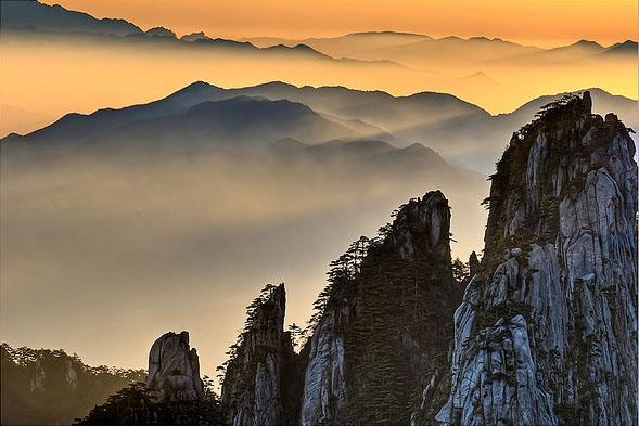 Montaña amarilla / viajar a china