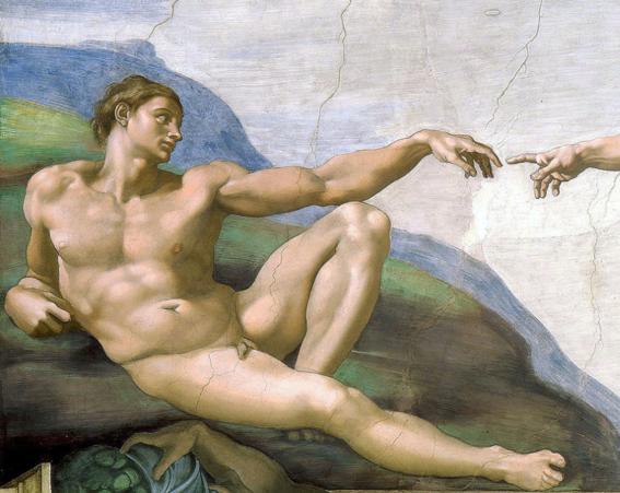 desnudos en el arte creacion adan