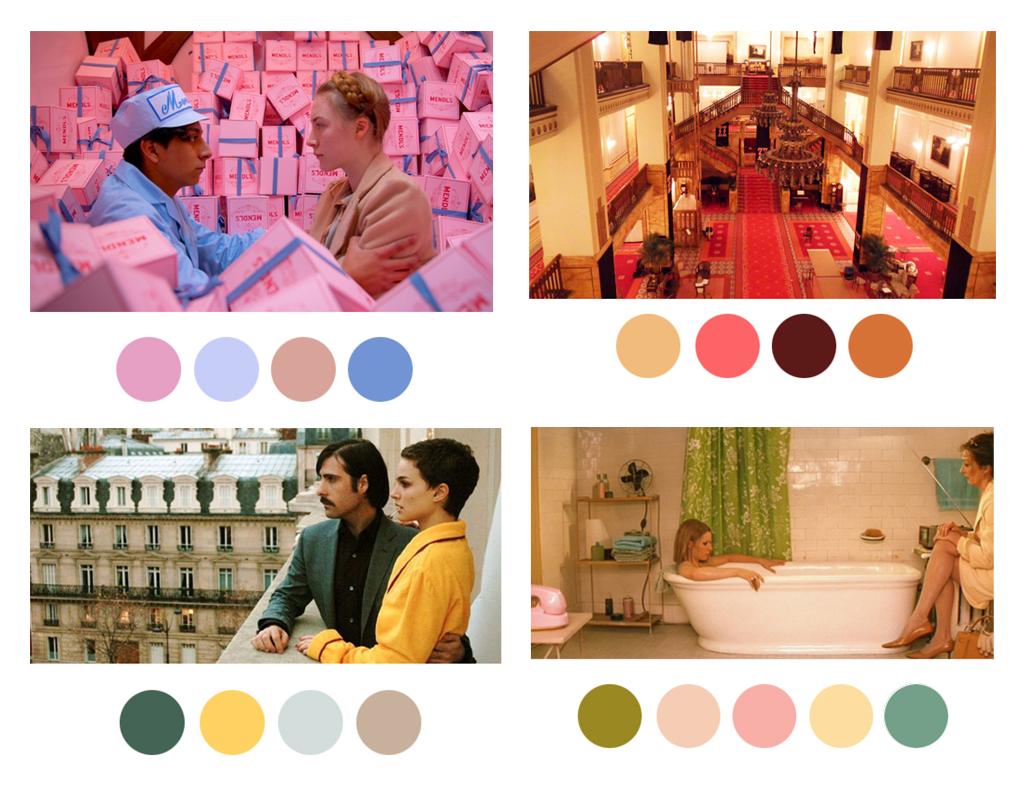 wes anderson peliculas paleta de colores
