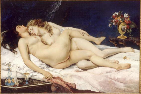 el sueno courbet desnudos en el arte