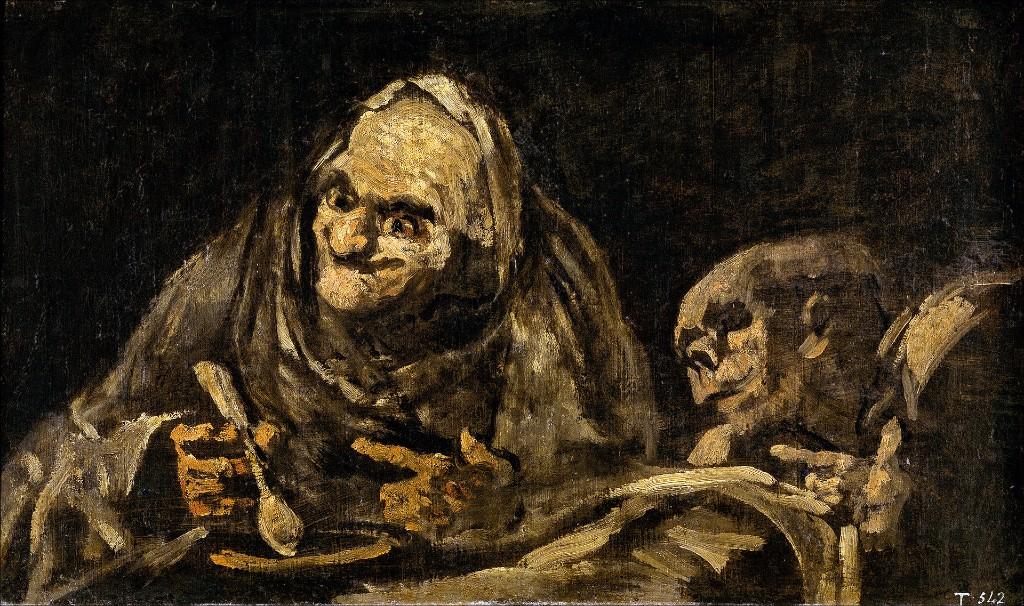 francisco de goya viejos comiendo sopa