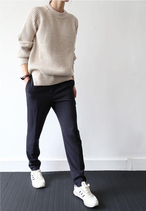Womens Navy Sweater