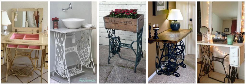 10 formas de reciclar tus muebles viejos y convertirlos en - Mueble para maquina de coser ...