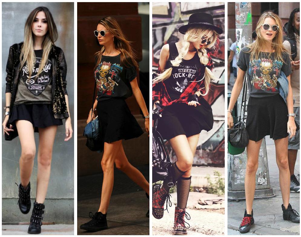 Formas De Tener Un Look Diferente Todos Los Du00edas Con Tus Camisetas De Rock Favoritas - Moda