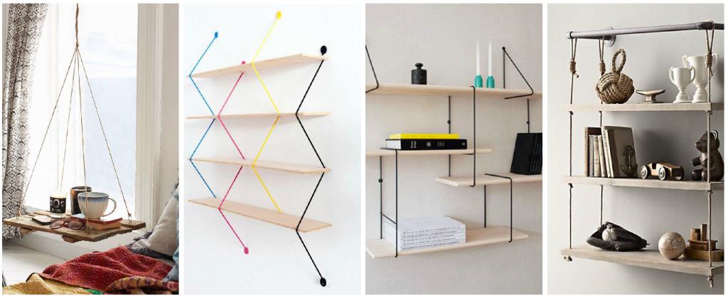 9 ideas para hacer un librero sin gastar dise o - Decoracion con cuerdas ...