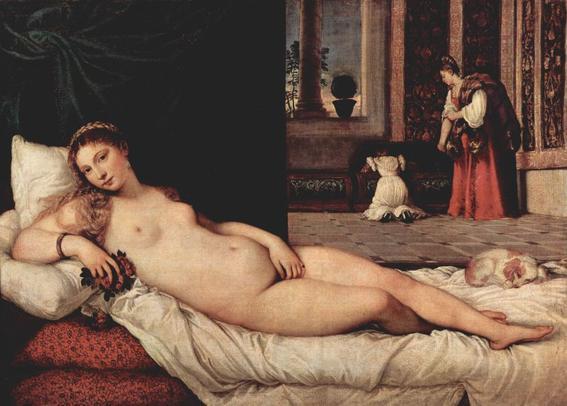 venus urbino tiziano desnudos en el arte