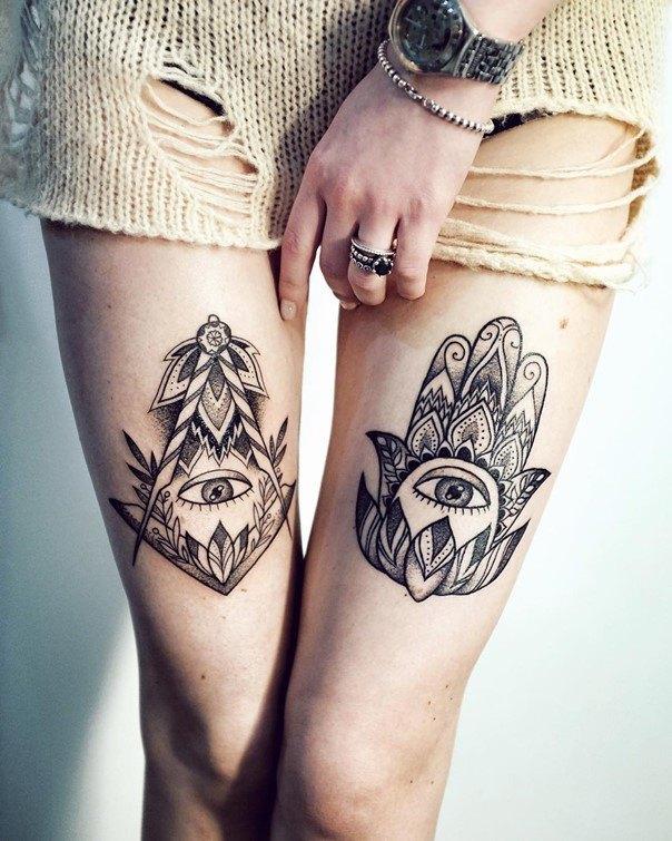 30 Hamsa Tattoos That Will Brighten Your Soul