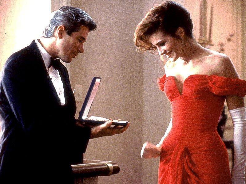elegant women red dress