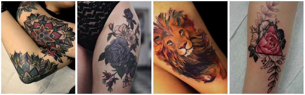 Originales Diseños De Tatuajes A Color Para Cada Tipo De Piel