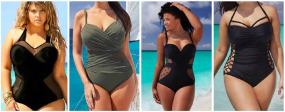 Trajes de ba o que pueden usar las mujeres plus size moda for Traje banos completos
