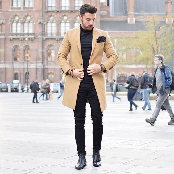 trajes de hombre abrigo