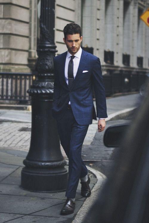 trajes de hombre azul marino