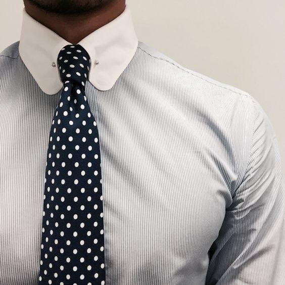 trajes de hombre cuello blanco