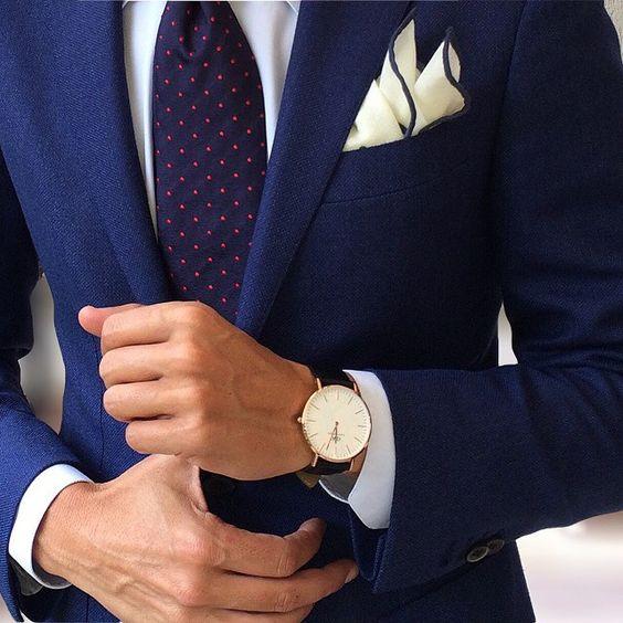 trajes de hombre reloj