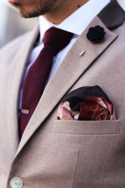 trajes de hombre vino