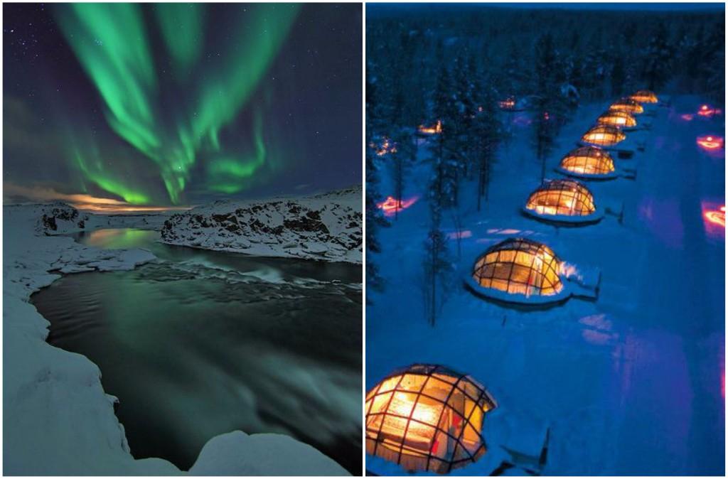 viaje por el mundo iglus de cristal en finlandia