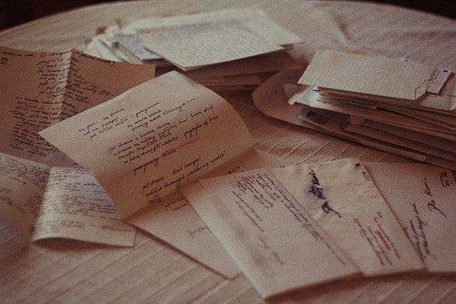 escribir una carta de amor escrita