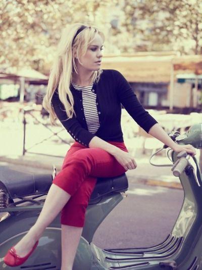 estilo de marilyn monroe capri en rojo