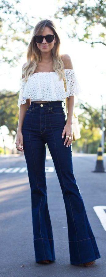 12 Formas De Vestir Tus Pantalones Acampanados Con Estilo Moda Moda