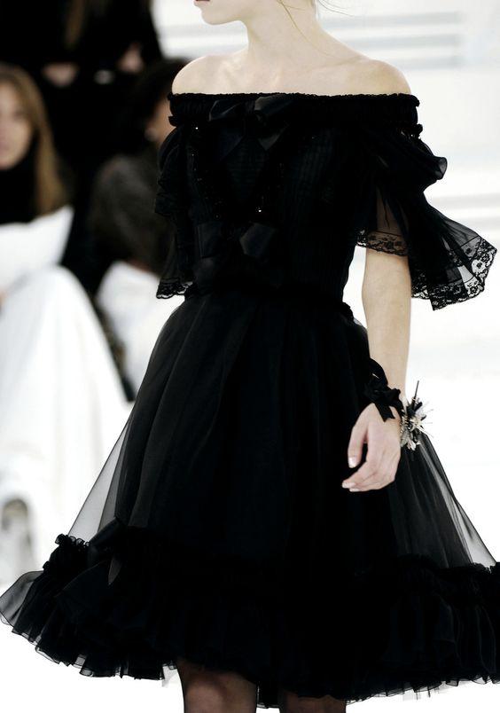prendas chanel robe noire