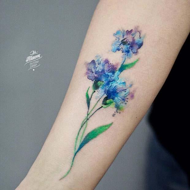 20 Tatuajes De Acuarela Que Todas Las Mujeres Querrán Tener Diseño