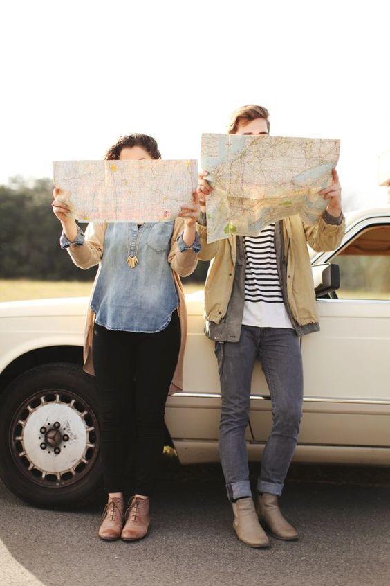 viajar en pareja mapas