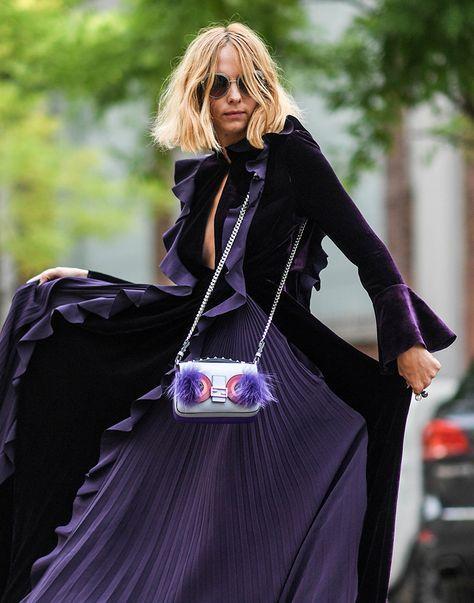 bolsos baguette violeta