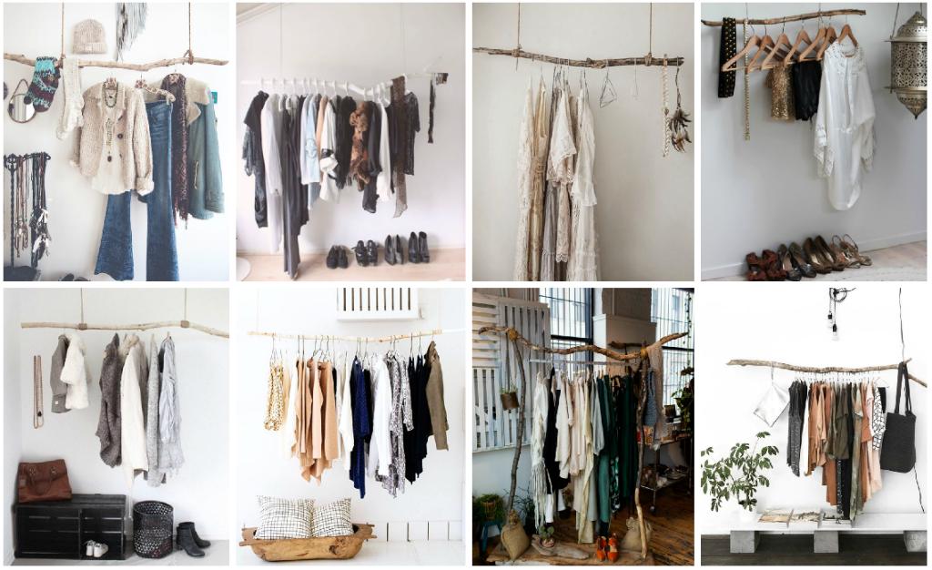 6 ideas para organizar tu ropa cuando no tienes cl set for Closet de madera para zapatos