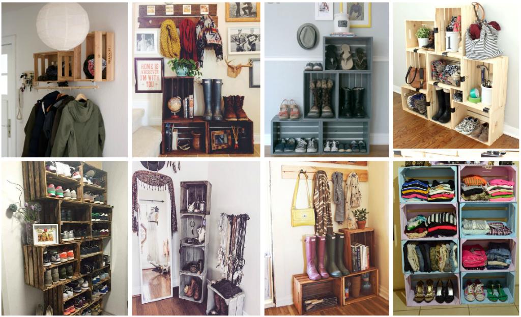 6 ideas para organizar tu ropa cuando no tienes cl set for Disenos de zapateros en madera