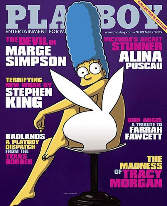 portadas de playboy marge simpson