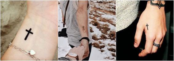 tatuajes por moda cruz