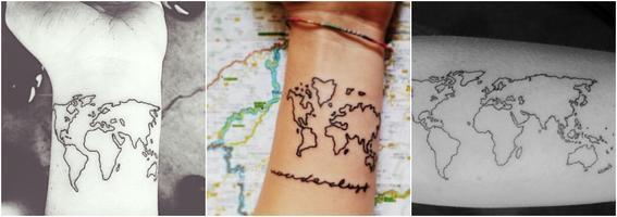 tatuajes por moda mapa