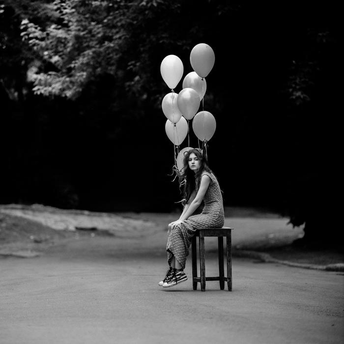 Anka Zhuravleva mujer globos