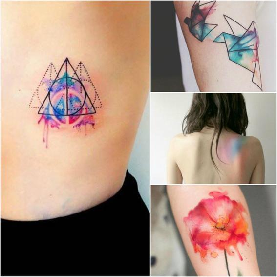 acuarela tendencias de tatuaje
