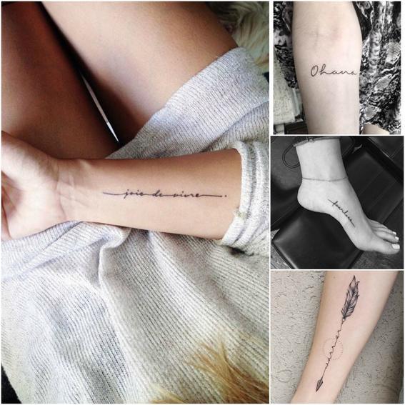 cursiva tendencias de tatuajes